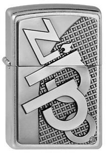 Zippo-Briquet-Zippo-3D-avec-Embleme-Street-Chrome-Zippo-Logo-Modele-Nouveau-Ovp