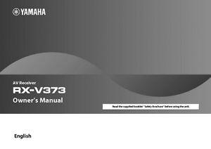 yamaha rx v373 receiver owners manual ebay rh ebay com yamaha rx-v373 owners manual pdf yamaha rx-v373 owners manual download