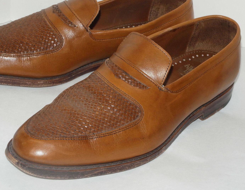 prima qualità ai consumatori ALLEN EDMONDS CARLSBAD Marrone PENNY LOAFER  SLIP-ON DRESS scarpe scarpe scarpe WOVEN LEATHER 11D  Sconto del 60%