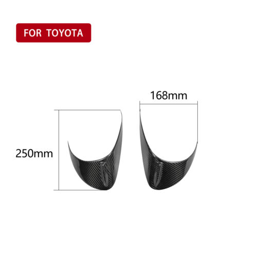 2*Carbon Fiber Rear Headlight Eyebrow Cover For Toyota GT86 Subaru BRZ 2012-2016