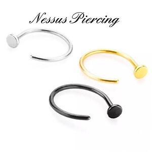 20gr-Anello-Del-Naso-Cerchio-6-8-10mm-Piccolo-Sottile-Aperto-Piercing-Gioielli