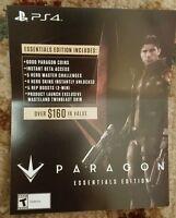 Ps4 Paragon Essentials Edition Bonus Content Voucher Card Only 160$ Value Rare