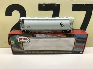 Atlas-Ho-Scale-C-amp-O-ACF-6-Bay-Cylindrical-Hopper-RD-2512-RTR-New-Old-Stock