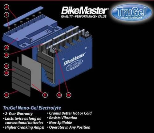 New Bike Master TruGel Battery MG7ZSTru Gel 2Yr Wrnty YTZ7S 78-0542