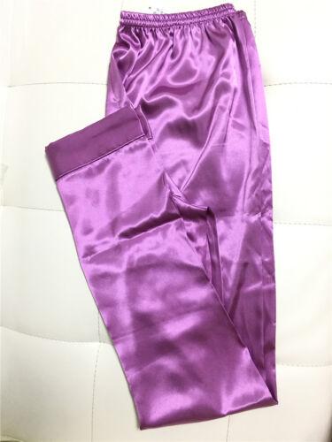 Men's Nightwear Sleepwear Pajamas Satin Silk Long Lounge Pants Pyjamas Trousers