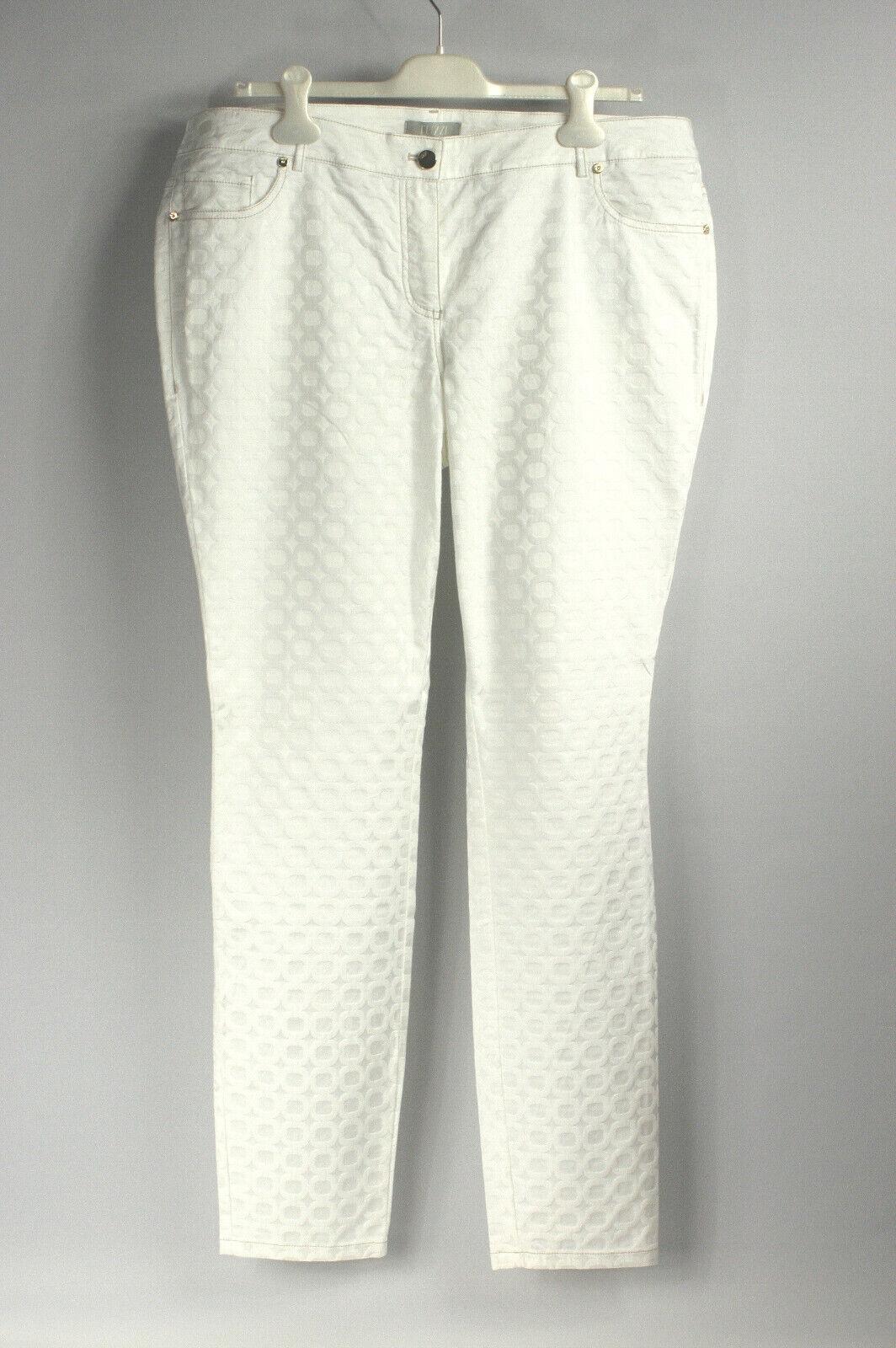Tuzzi Hose white Baumwolle Viskose Elasthan Gr. 44