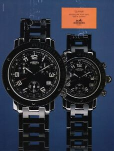 2000-Men-039-s-Women-039-s-Hermes-039-Clipper-039-Sport-Chrono-Watch-photo-vintage-print-ad