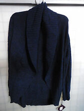 Women's Ava & Viv Chenille Open Cardigan Oxford Navy Size 1x With Tags