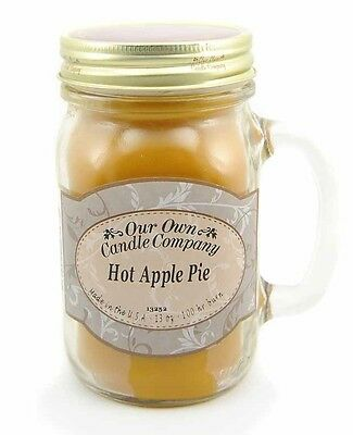Our Own Candle Company Hot Apple Pie Scented 13 Ounce Mason Jar Candle SIC1-AP