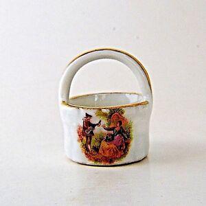 Limoges-Miniature-Fragonard-Basket-Castle-Mark-Mini-Doll-House-France