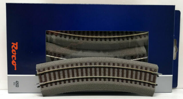 Roco H0 42522 – 6 Pieces Track Curved R2 With Roadbed Rocoline Cod. 83