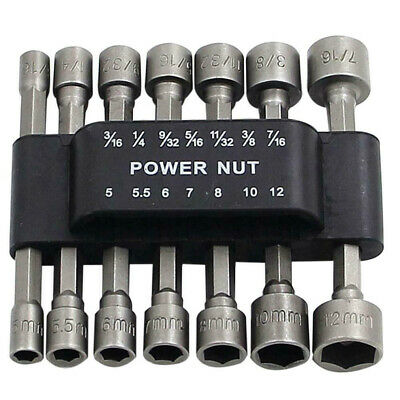 14Pcs 1//4/'/'Hex Socket Bit Adapter Drill Nut Driver Power Extension Wrench