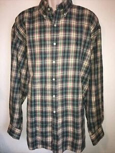 POLO-RALPH-LAUREN-Size-XXL-Blake-Long-Sleeve-Shirt-Blake-Plaid-Flannel-Blue-Pony