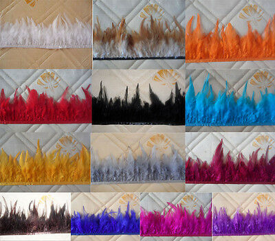 High quality pheasant Neck Feather Fringe Trim 13 color/ choice 3-5inch