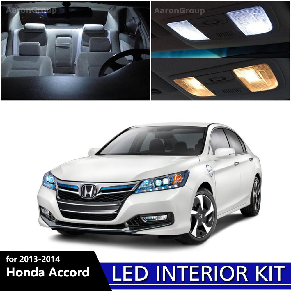 14pcs white interior led light bulbs package kit for 2013 2014 honda accord 713331143352 ebay. Black Bedroom Furniture Sets. Home Design Ideas