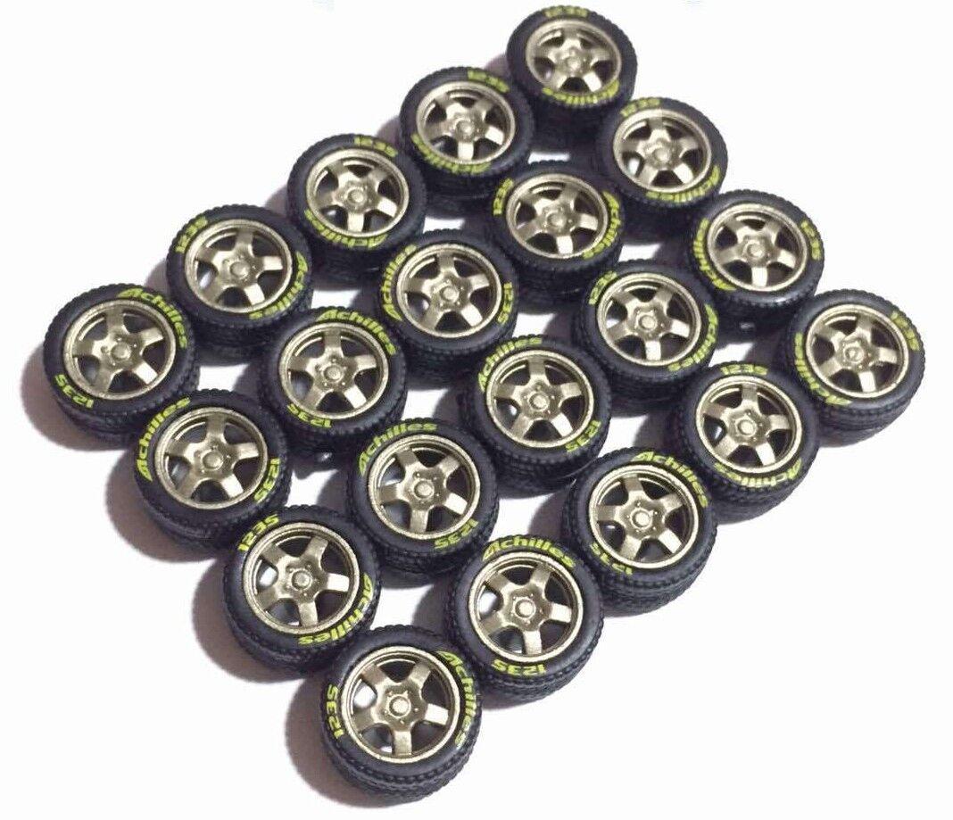 el mejor servicio post-venta 1 64 64 64 neumáticos de goma Llantas & 2 ejes Fit Hot Wheels Nissan Skyline Diecast-Conjunto de 5  promocionales de incentivo
