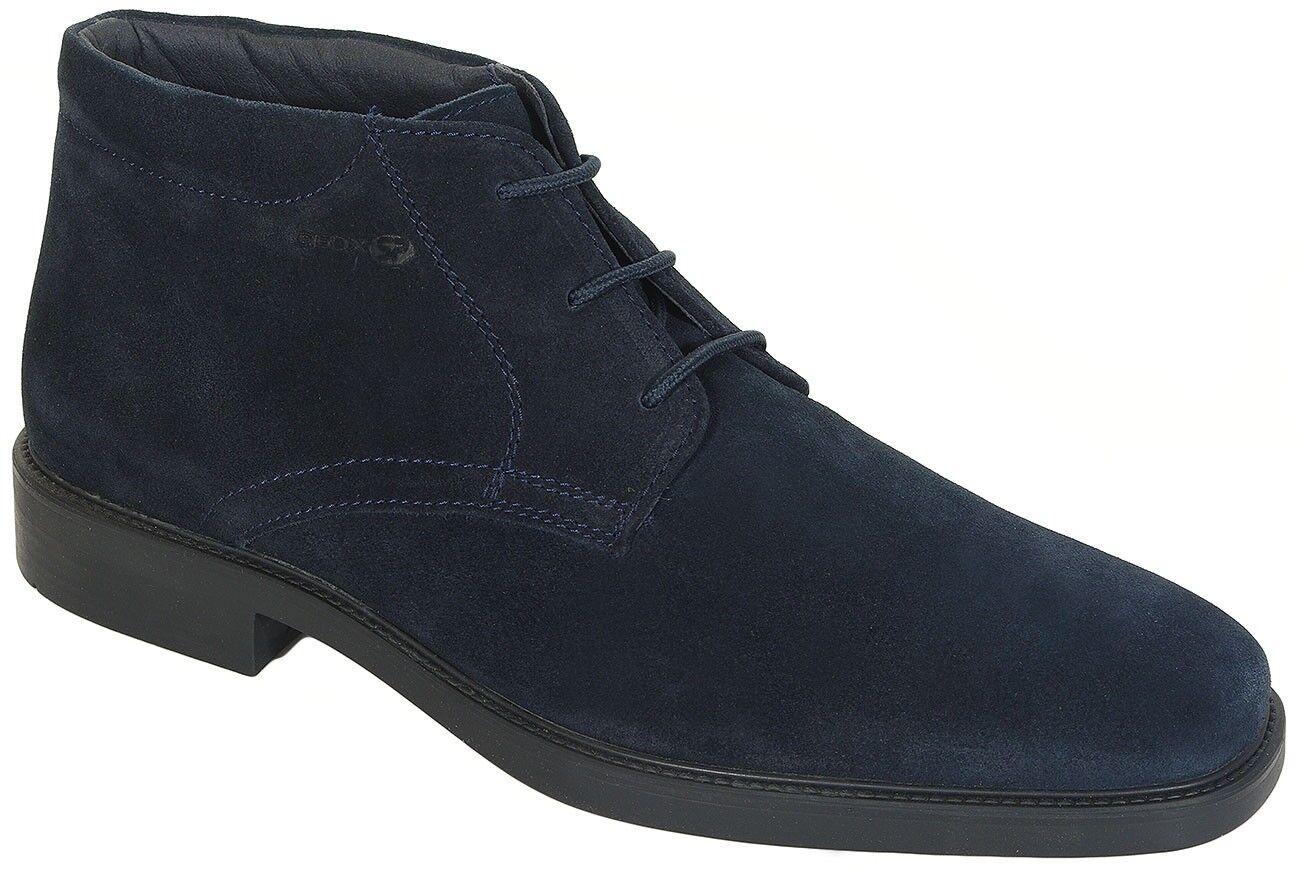 GEOX Brandolf A ankle boots sale suede navy u844va