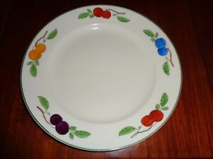 W-H-Grindley-amp-Co-Dinner-Plate-Fruit-Pattern-Circa-1930-039-s