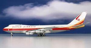 Inflight-IF742WA0120-World-Airways-Boeing-747-200-N747WR-Diecast-1-200-Jet-Model