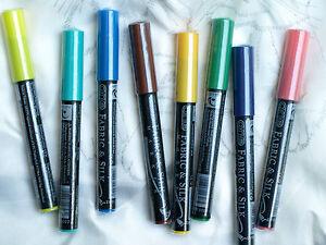 Set-Seidenmalerei-8x-Farbstift-8x-Farben-buegelfixierbar