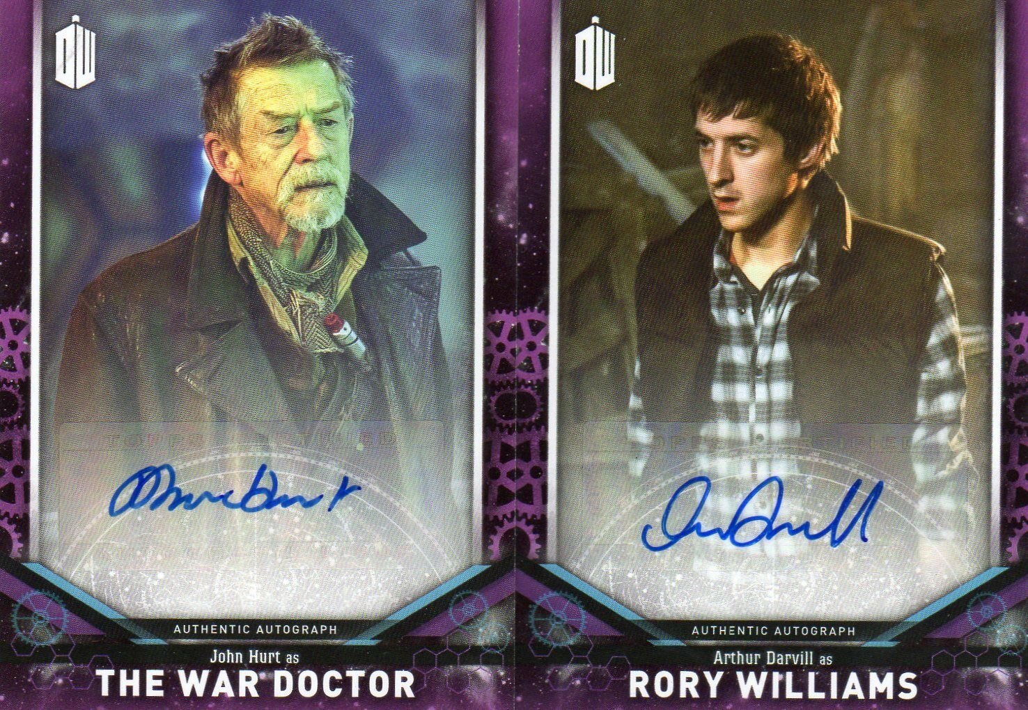 Doctor Who Topps Signature Series 2018 6 Purples   the Doctor & Companion
