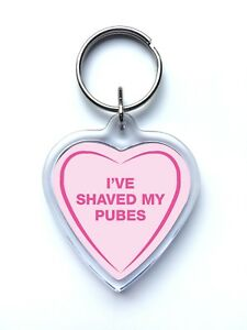 Image is loading Rude-Adult-Naughty-Funny-Love-Heart-Shaped-Keyring- f4d834f86