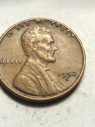 Low Shipping Lot C14 1952  S Lincoln Wheat Cent  Very Fine Or Better Penny VF