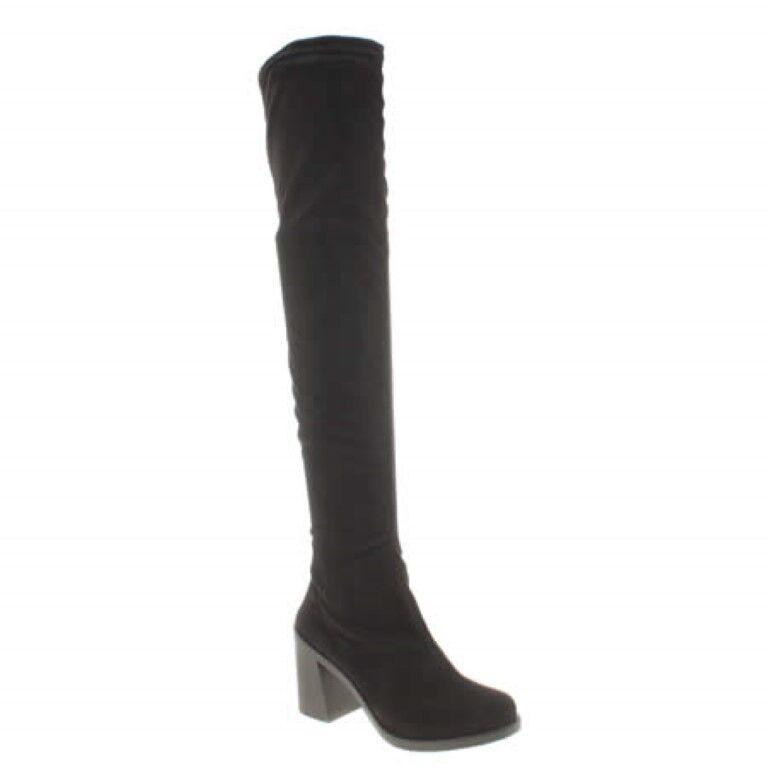 Schuh Fame au-dessus du genou bottes à talon bottier et UK 5 EU 38 JS181 LL 05