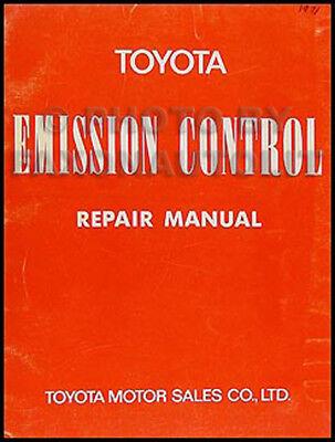 1971 Toyota Emissione Riparazione Manuale Pickup Land Cruiser Celica Corolla
