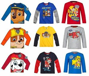 Brand-New-Boys-Official-Licensed-Paw-Patrol-Long-Sleeve-T-Tee-Shirt-Top
