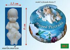 Silikonform silicone mold (083) Baby auf dem Rücken cake sugarcraft resin gip
