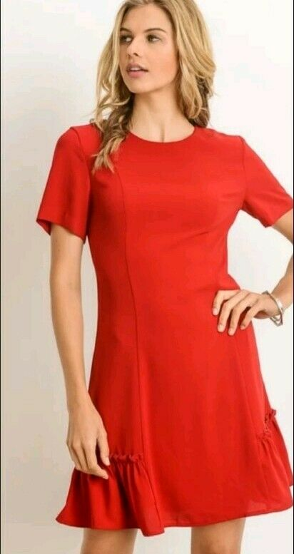 NWT Shift Dress Woherren Boutique rot Midi Dress Größe Medium