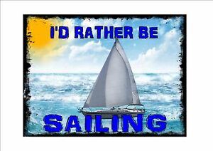 Vintage Style Sailing Sign Retro Style Sign Kitchen Sailing Wall Plaque Ebay