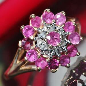 10k-yellow-gold-ring-1-70ct-natural-ruby-diamond-size-6-vintage-handmade-3-2gr