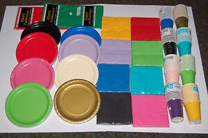 PAPER-PLATES-CUPS-NAPKINS-TABLE-CLOTHS-19-COLOURS-WEDDING