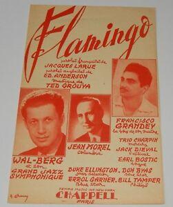 Partition-FLAMINGO-de-Jacques-LARUE-Ed-ANDERSON-Ted-GROUYA-Duke-ELLINGTON