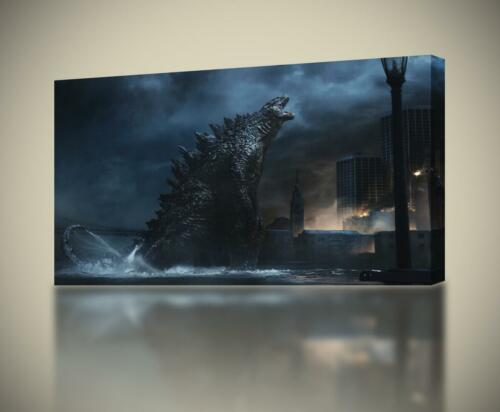 Godzilla CANVAS PRINT Home Wall Decor Giclee Art Poster CA347