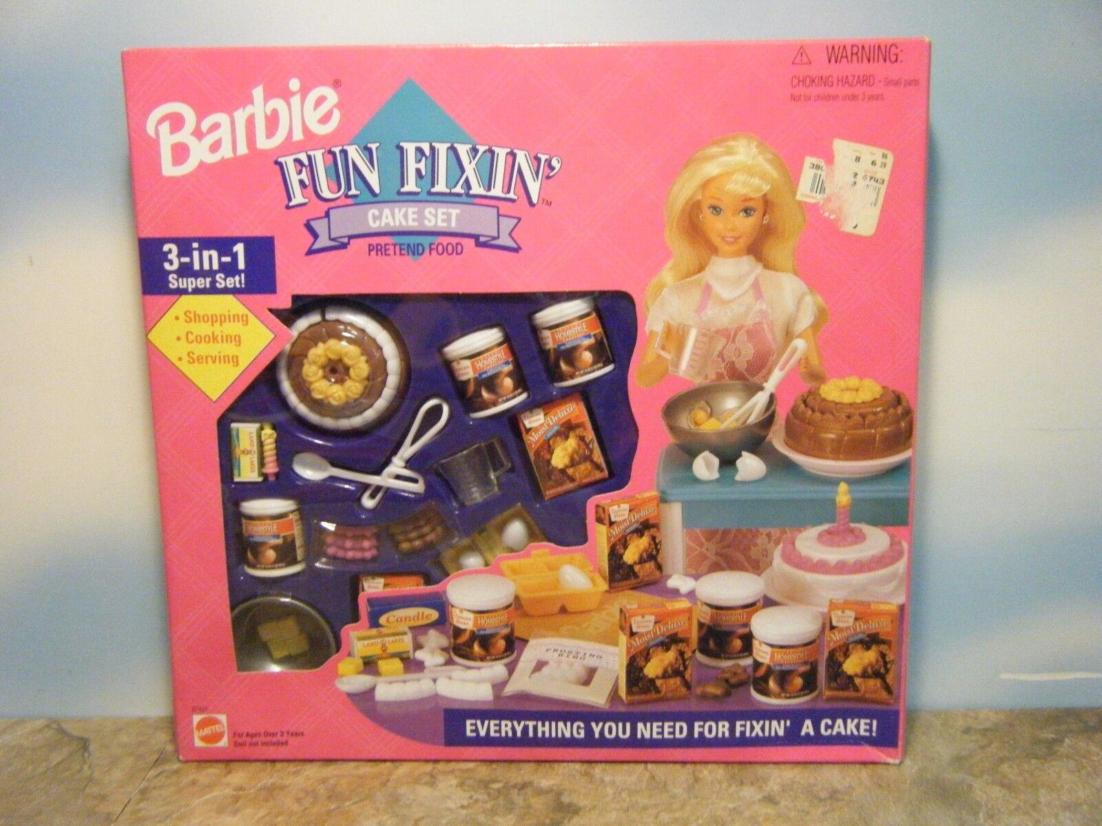 BARBIE FUN FIXIN CAKE SET NEW