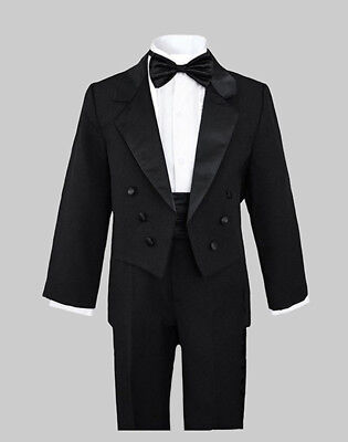 Boys Recital Graduation Wedding Pinstripe Vest Suit Set,Size: 2T to 14 Party