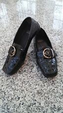 STUART WEITZMAN Black Patent Leather Slip On Women's Shoes, Size 7,5W