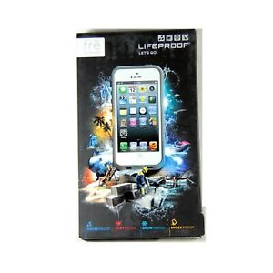 timeless design 5b407 d2476 Details about LIFEPROOF CASE FOR IPHONE 5 FRE WATERPROOF SHOCK ICE WHITE  GRAY *NEW #1* 1301-02