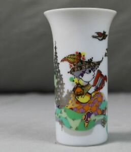 Rosenthal-Bjoern-Wiinblad-Design-Vase-Motiv-1001-Nacht-Harfenspieler-B-12