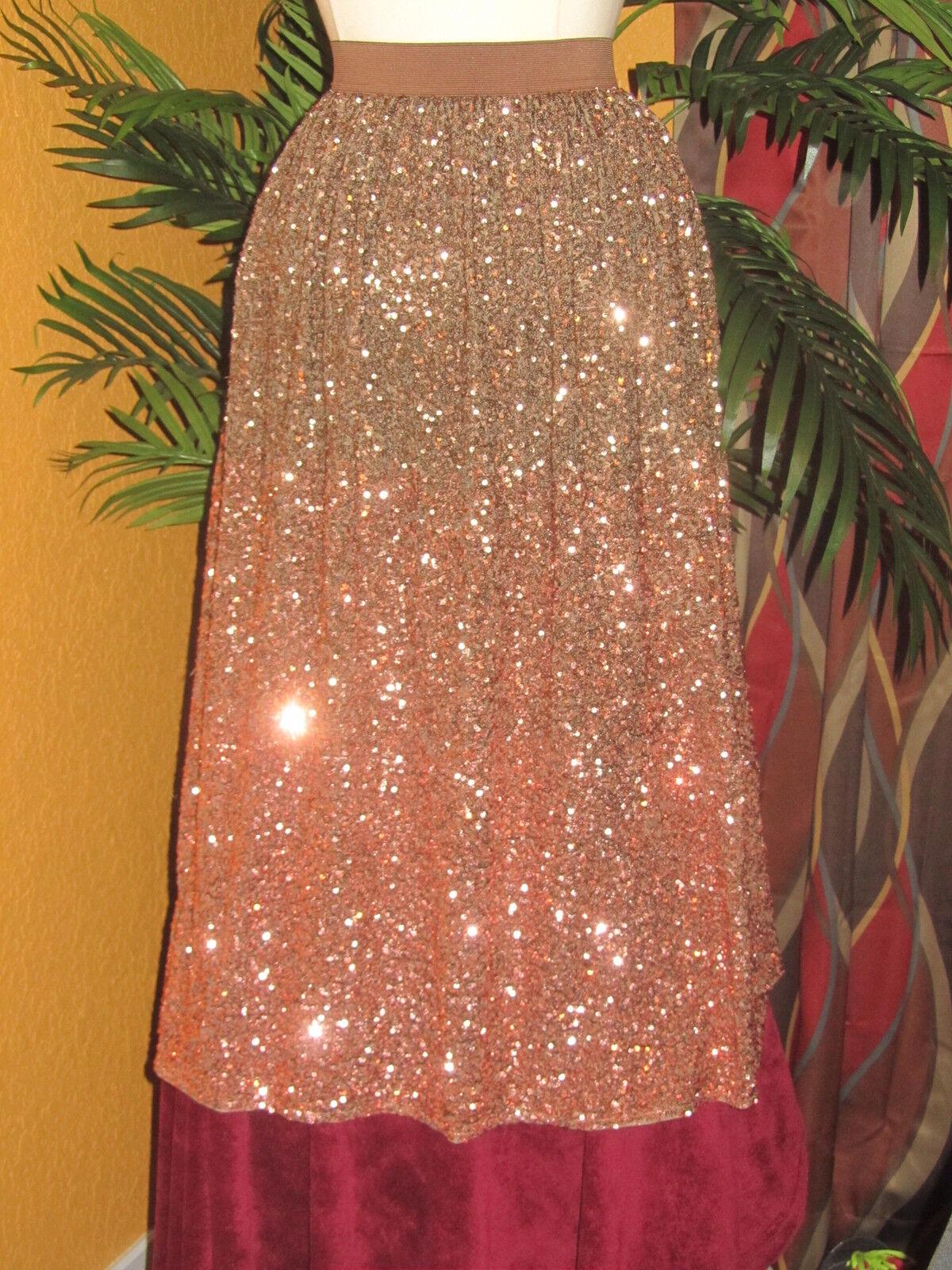 LAUREN CONRAD RUNWAY NWT  90 XS EXTRA SMALL women's skirt  copper party disco