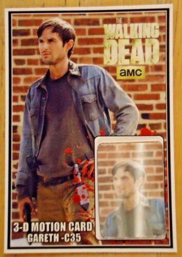 MOTION CARD ONLY 250 PRODUCED ANDREW J The Walking Dead GARETH 3-D WEST