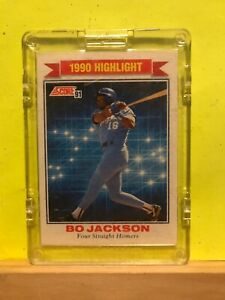 Bo Jackson 1990 Highlight Four Straight Homers Baseball Card