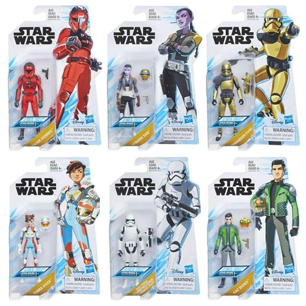 Star - wars - widerstand welle 1 torra kaz scheiterhaufen synara stormtrooper vonreg in die hand.
