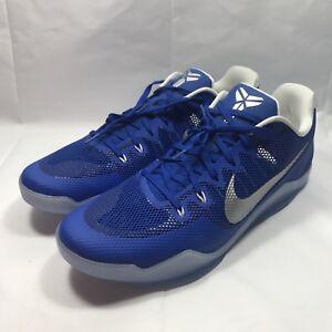 bf30d27459e0 Nike Kobe XI TB Game Royal Blue Silver White size 18 basketball ...