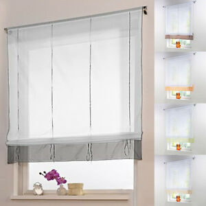 Modern liftable roman blinds tap top sheer kitchen for Kitchen roman blinds contemporary