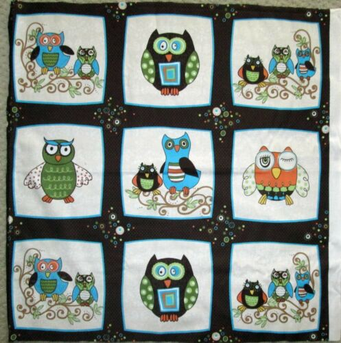 """1 Darling /""""Life/'s A Hoot/"""" Cotton Quilting Sewing Crafting Fabric Panel"""