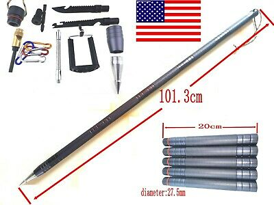 Multi-Purpose Survival Tactical Cane Stick Folding Army Trekking Pole Alpenstock